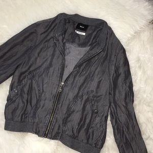 Urban Outfitters grey zip up fashion jacket